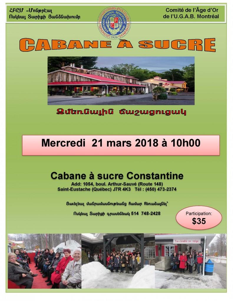 Cabane a Sucre (winter) 21-3-2018